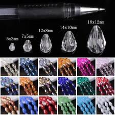 5x3mm 7x5mm 12x8mm 15x10mm 18x12mm Facettiert Kristall Glas Lose Tropfen Perlen