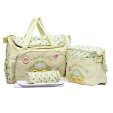 4PCS Green Large Baby Diaper Nappy Changing mat Mommy Tote Handbag Bag US Seller