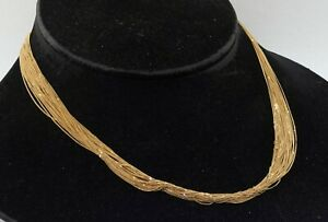 Pietro Bisarello Italian designer heavy 18K gold multi-strand chain necklace