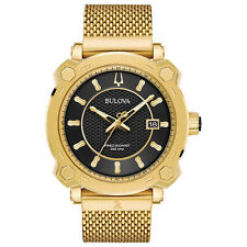 Bulova Precisionist Grammy Edition Men's 97B163 Black Dial Gold-Tone 44mm Watch