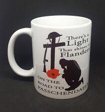 Passchendaele poppy mug flanders somme 1st w war memorial tribute free gift box