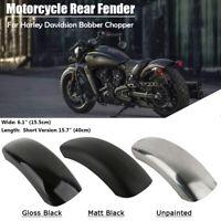 6.1'' Moto Garde-boue arrière Court aile Métal Pour Harley Bobber Chopper Noir