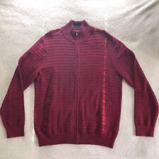 Nautica Mens Turtleneck Zipper Pocket Front Sweater Red Size Large 100% Cotton