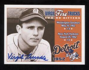 Virgil Trucks Signed Trading Card Autographed Baseball Signature No Hitter