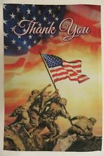 """Thank You"" Patriotic Soldiers, War Memorial, Flag raising American House Flag"