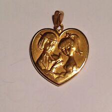 Les Amoureux de Peynet / Gros Coeur OR 18 ct  Modèle à la colombe . Collection