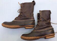 LL Bean Boots 8 Brown Rubber Wellies Waterproof Men's Shoes Rain