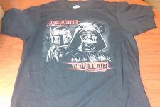 "Star Wars ""The Hunter The Villain"" Black Graphic T-Shirt Men's Size L Brand New!"