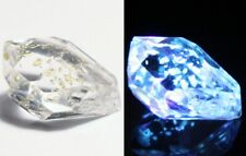 2.84ct Rare Fluorescent Petroleum Enhydro Oil Diamond Quartz Crystal 12x7mm