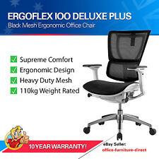 Ergoflex IOO Office Chair Deluxe Plus Ergonomic Mesh Chairs Arms Gas Lift Seats