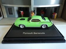SCHUCO    PLYMOUTH  BARRACUDA   GREEN       1/87  HO  DIE CAST