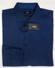 NWT $155 Hugo Boss Slim Fit Blue Shirt Mens Size 2XL Ridley 2F Long Sleeve  NEW