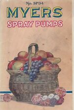 MYERS SPRAY PUMPS 1934 CATALOG NO. SP34