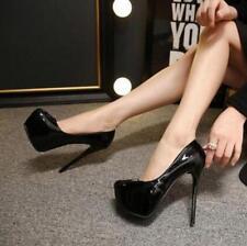 Womens Round Toe Platform High Stiletto Heel Nightclub Slip On Pump Shoes Hot Sa