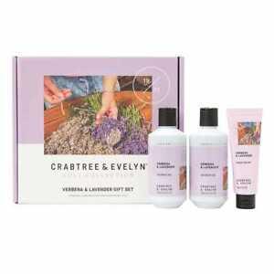 NEW Crabtree & Evelyn Verbena Hand Cream and Shower Gel Lavender Set