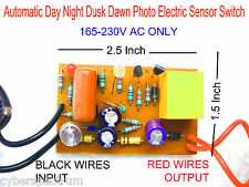 Automatic Day Night ON/OFF Switch Dusk Dawn PhotoElectric Sensor Switch 220V AC