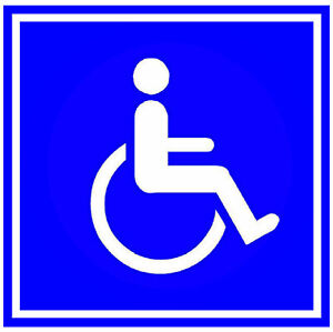 Discapacidad Signo - Grande Recuerdo Novedad Cuadrado Imán de Nevera/De /