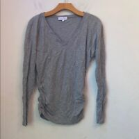 Michael stars solid gray long sleeve top