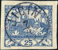 "TCHECOSLOVAQUIE / CZECHOSLOVAKIA 1919 "" JIČÍN "" 3rd Type (J.1 V.895-3) on Mi.5"