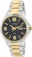 Citizen Men's Quartz Black Dial Gold-Tone 41mm Bracelet Watch BF2004-57L