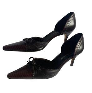 L.K. Bennett Women's EU 40 Designer High Heel Pumps Pointed Toe Glam Party TV