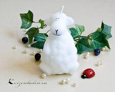 Kerze Schaf weiß 10cm Stearin Kerzen Figuren Advent Tischdeko Weihnachten