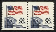 #1895 20c Flag Over Supreme Court-BLUE COURT ERROR, Mint **ANY 4=FREE SHIPPING**
