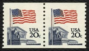#1895 20c Flag Over Supreme Court-BLUE COURT ERROR, Mint **ANY 5=FREE SHIPPING**