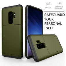 For Samsung Galaxy S9 S8 Plus S7 Shockproof Credit Card Pocket Holder Case Cover