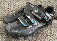 Specialized Motodiva Mountain Bike MTB Shoes Size 38.5 US 8 Black 6111-35385 EUC