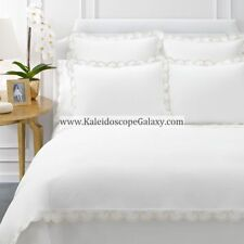 Aerin Lauder Applique Scallop Ivory King Sheets ~ Brand New $2000 Retail