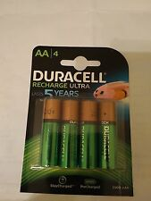 NEW DURACELL AA/4 Precharged Rechargeable Batteries 2500 mAh