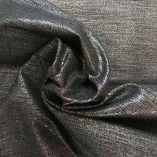Tessuto denim elasticizzato lurex al metro colore grigio mt 1,00x1,40