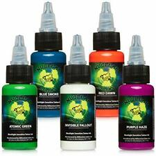 UV Sensitive Glows in the Dark Tattoo Ink (5 Color Set 0.5oz)
