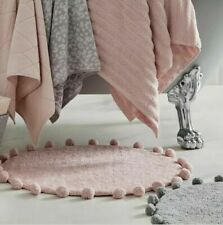 Super Soft Pom Pom Bath Mat Luxurious Style Bathroom Decor