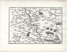 Antique maps, gouvernement de beauvais