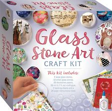 Glass Stone Art Craft Kit Includes Book + Stones + Sheets + Glue - Hinkler *New*