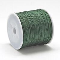 LOT DE 15 MÈTRES - 1500CM CORDE FIL NYLON 0,8MM vert pour bijoux shamballa C215B
