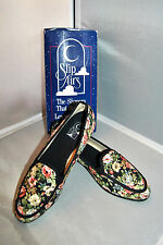 Slip Airs Slippers That Breathe Black Floral Fabric Made in Spain size11 Unworn