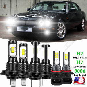 For Jaguar XJR XJ8 1998-2003 6x Comb LED Headlight Hi/Low Fog Light Bulbs Kit