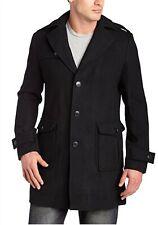 NWT Ben Sherman Men's Coat M Black Wool X Slim Calzaghe Peacoat Jacket MSRP $279