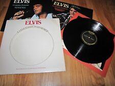 ELVIS PRESLEY - A LEGENDARY PERFORMER  VOLUME 1 - RCA RECORDS LP W. INSERT