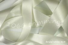 Ribbon Double Satin Berisfords 30 Shades 8 Widths  cut to order & Free P&P