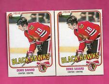 2 X 1981-82 OPC # 63 HAWKS DENIS SAVARD ROOKIE NRMT  CARD (INV# C7120)