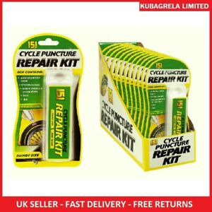 BICYCLE BIKE PUNCTURE REPAIR KIT - Tyre BMX, 9 patches, glue chalk Inner tube
