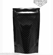 Quality Smell Proof Waterproof Battle Shield Stealth Black Carbon Small 15 Bags