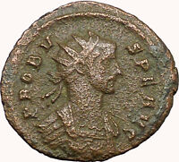 PROBUS 281AD Authentic Ancient Roman Coin   Jupiter Zeus w  hunderbolt  i33979