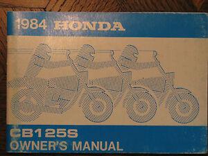 84 HONDA CB125S CB125 S CB 125S 125 ORIGINAL NOS OEM OWNER'S DRIVER'S MANUAL