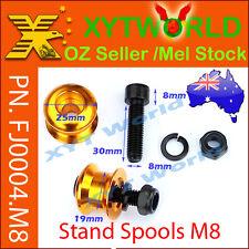 FJ0004 M8 Stand Spool Motorcycle Swingarm Paddock Bobbins Crash Protector Reel
