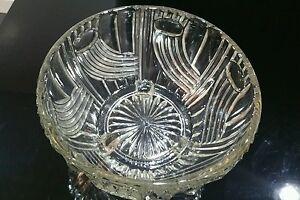 VINTAGE BOHEM LIBOCHOVICE 1958. GLASS BOWL REG NO 10133